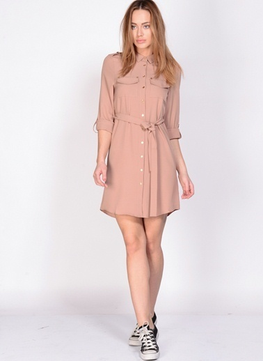 Fashion Elbise Pudra